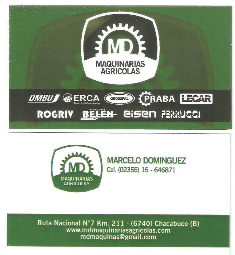 Nueva tarjeta MD Maquinarias